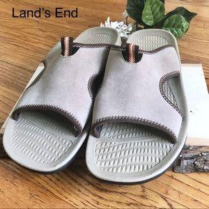 Land's End Tan Sandals